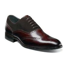 New Stacy Adams mens shoes Stanbury Wingtip Oxford Brown Leather 25070-200