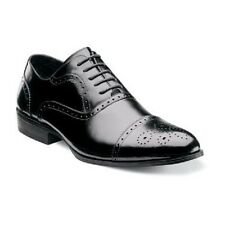STACY ADAMS MEN'S shoes Gibson Black Leather Cap Toe Dressy Lace Up 20152-001