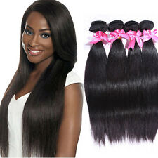 3 Bundles 100% Brazilian Virgin Hair Weft Silk Straight Hair Extensions Weave