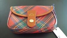 DOONEY & BOURKE FLAP WRISTLET  6U20 RED PLAID NWT