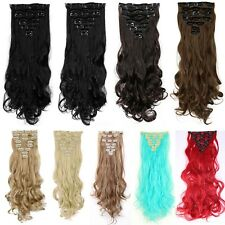 Real Thick 18 Clips As Human Hair Full Head Clip In Hair Extension Extensions 83