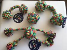 Toyz Rope Dog Toys - Ball, Bone , Quad Ball, Tugger etc