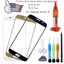 Front Outer Screen Glass Lens Replacement Tool Kit UV Glue For Samsung Galaxy S7