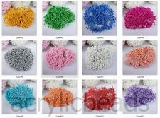 Pearl Colors Double Sided Round Artificial Flower Stamens for Craft Making 200X