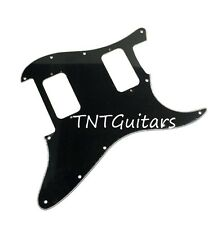 Strat HH FLOYD ROSE Pickguard, SoCal Charvel Style, Custom SO CAL FR BLACK (BWB)