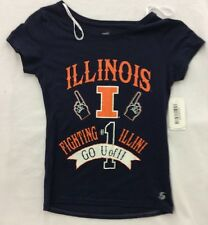NCAA Womens Soffe Illinois University Fighting Illini Go U of I T-Shirt Navy