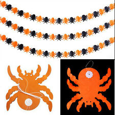 Halloween Props Garland Pumpkin Spider Hanging Ghost Paper Party Decoration