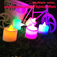 Flicker Light Flameless LED Tealight Tea Candles Wedding Light With 6 Color