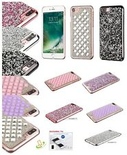 For Apple iPhone 7 Plus 7 Bling Diamond Hybrid Bumper Protective Hard Case Cover