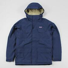 Patagonia Outdoor Men's Isthmus Parka Jacket Coat Navy Blue DWR Coated Shell