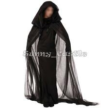 Fancy Adult Witch Costume Women Ghost Bride Zombie Devil Cloak Halloween Cosplay