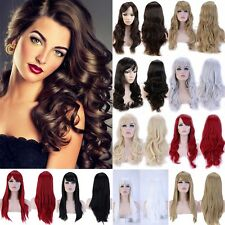 Cosplay Wig Women Lady Fashion Long Curly Wavy Hair Full Wigs Party Costume Wigs