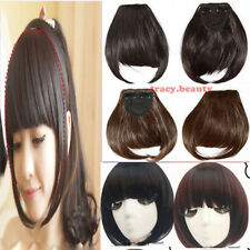 Neat Bang Bangs Clip in Hair Extension Fringe Front On Extensions Hot USA tb