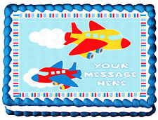 PLANES AIRPLANES Edible image cake topper decoration