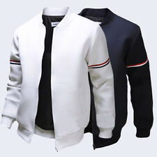 Winter Men Slim Fit Baseball Jacket Fashion Coat Top Casual Sweatshirt Outerwear