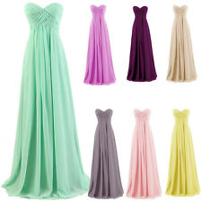 2016 Strapless Bridesmaid Bandeau Dress Long Prom Wedding Gowns Evening Party