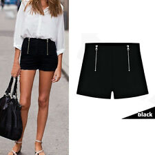 Summer Style Women Girl Hot Pants Casual Short Pants High Waist Zipper Shorts JC