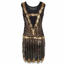 1920s Strapless Dress Deco Great Gatsby Vintage Sequin Cocktail Party Gown 9