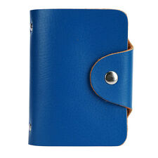 Fashion Business Credit ID Card Leather Strap Buckle Bank Card Holder Bag