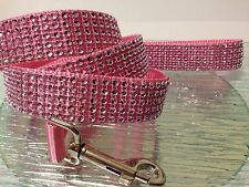 "Rhinestone/Diamante Dog Leashes Bling Sparkle Custom Unisex 45"" long Nylon USA"