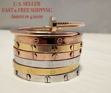 Novelty Gold-plated Stainless Steel Cuff Bangle Jewelry Bracelet Gift Valentine