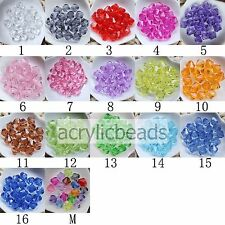 Lots Clear Acrylic Faceted Bicone Crystal Spacer Beads Jewelry Finding 4-20MM