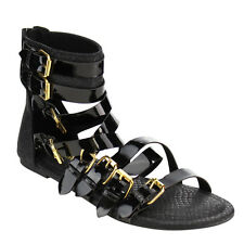 Wild Diva TANAYA-529 Women's Buckled Strappy Back Zipper Gladiator Flat Sandal