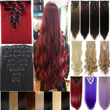 100% Natural 8 Pieces Hair Full Head Clip In Hair Extensions Clips As Human H96