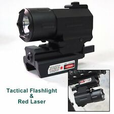Tactical Low Profile Red Dot Laser Sight /CREE R5 LED Gun Rifle flashlight Torch