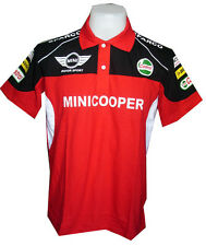 NEW MINI COOPER RAC MOTORCYCLE SPORT RACING TEAM RED MENS POLO T-Shirt Sz M,L,XL