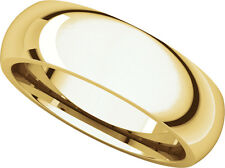 14K Yell. Gold, Comfort Fit Wedding Band 6MM sz 4-15