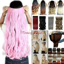 Halloween Cosplay 100% Natural  3/4 Full Head Clip In Hair Extensions Ombre H97