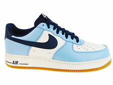 NEW MENS NIKE AIR FORCE 1 LOW BASKETBALL SHOES TRAINERS BLUECAP / OBSIDIAN / SAI