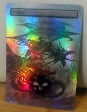 FOIL MTG SWAMP ALTERED ART SCREAMING DRAGON WRAITH RIDER GREAT 4 COMMANDER EDH