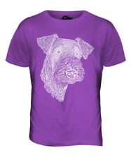 AIREDALE TERRIER SKETCH MENS PRINTED T-SHIRT TOP GREAT GIFT FOR DOG LOVER