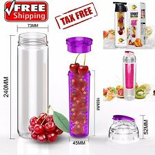 Sports Fruit Infuser Fitness 23oz Drink Container BPA FREE Health Water Bottle