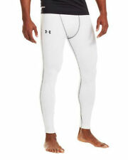 Under Armour Leggings Mens White Compression Pants White and Black Brand New