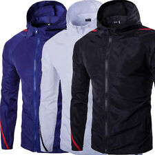 Men Slim Fit Basic Jacket Cotton Blend Outwear Stitching Windproof Rider Coat