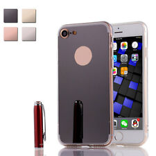 Luxury Ultra-Thin Slim Silicone Gel TPU Mirror Hard Case Skin Cover for iPhone 7