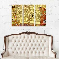 POSTER or STICKER +GIFT Decals Vinyl Tree Of Life Gustav Klimt 3 Panels