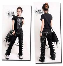 K095 VISUAL KEI PUNK rave rock cool gothic Japan Kera NANA COOL Pants Trousers S