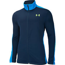 UNDER ARMOUR men UA Solo Dolo ATHLETIC WARM UP Basketball JACKET Zip Navy LARGE
