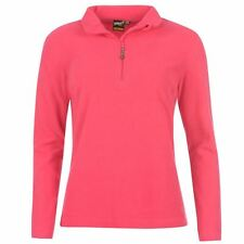 WOMENS LADIES PINK GELERT WALKING 1/4 ZIP FUNNEL NECK TOP FLEECE JUMPER SWEATER