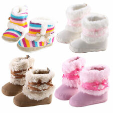Baby Infant Child Boys Girls Warm Snow Boots Fur Winter Toddler Soft Sole Shoes