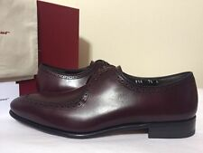 Salvatore Ferragamo Nikel Oxford Wine Leather Men's Lace Up Oxford Shoes