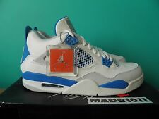 NEW NIKE AIR JORDAN 4 IV RETRO 2012 MILITARY BLUE US 11.5 WHITE FIRE 308497 105