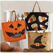 Mud Pie Halloween Dazzle Sequin Candy Corn Or Witch Hat Jute Tote Purse