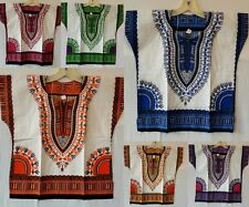 Kids Dashiki shirt African Boys Girls Mexican Poncho Hippie Blouse Top One Size