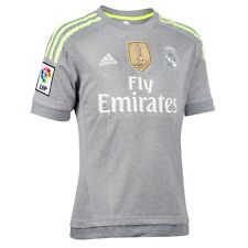ADIDAS REAL A JSY WC T-SHIRT OFFICIAL REAL MADRID SECOND 2016 GREY AK2491