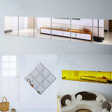 6PCS Modern Decoration DIY Mirror Effect Wall Sticker Home Room Decor Art Decal